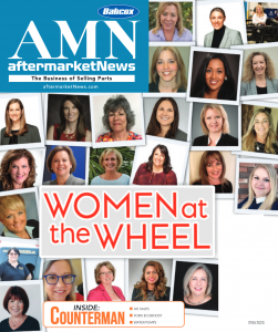 Cover of aftermarketNews publication featuring Women at the Wheel